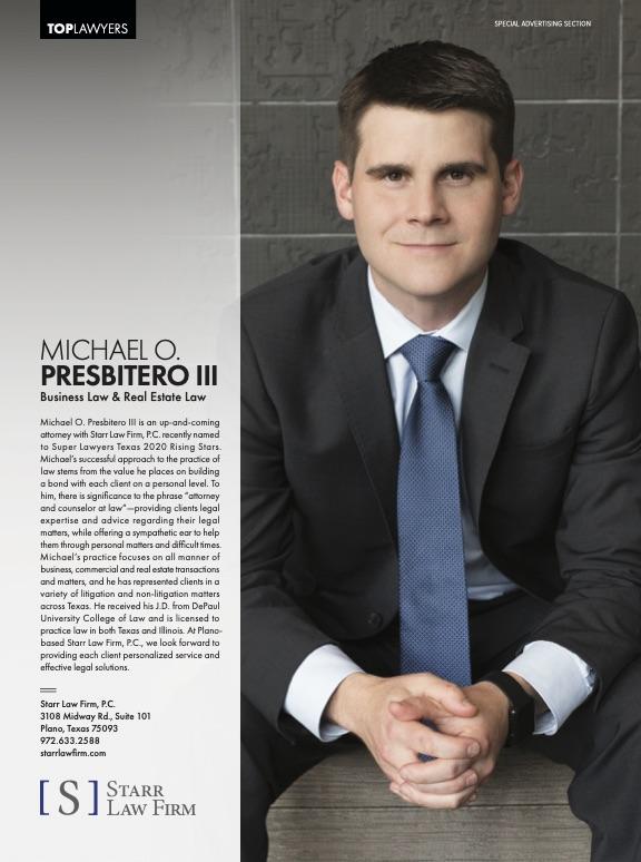 Michael Presbitero was featured in Local Profile magazine