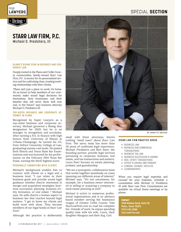 MP Starr Law Firm (FP) Top Lawyer Profile 20-12 FINAL